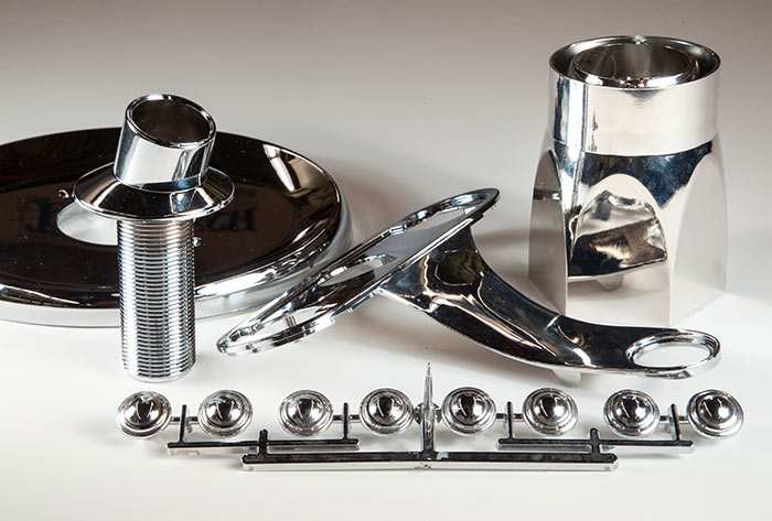 Chrome Plated & Chrome Plated/Vacuum Metalized Parts | Tri Tech Tool